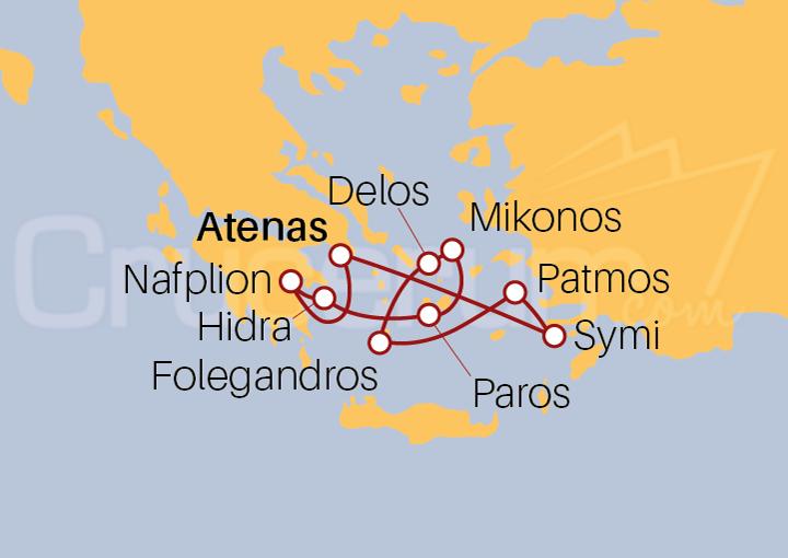 Itinerario Crucero Secretos de las Islas Griegas