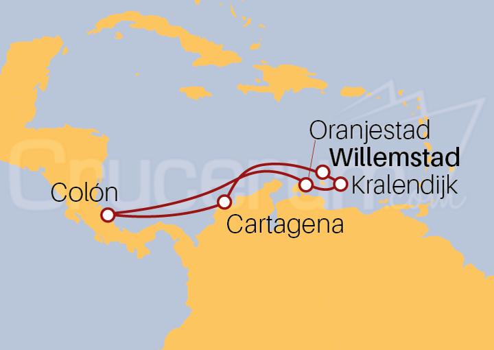 Itinerario Crucero Antillas Holandesas desde Curaçao