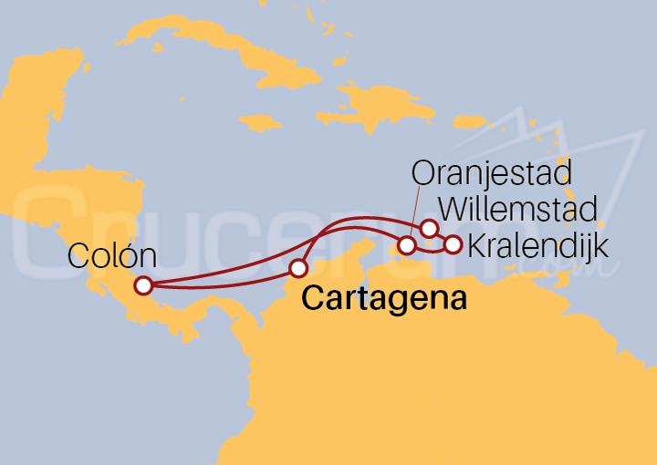 Itinerario Crucero Caribe desde Cartagena