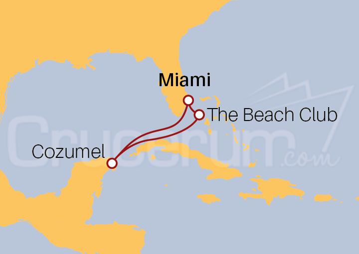 Itinerario Crucero Riviera Maya desde Miami