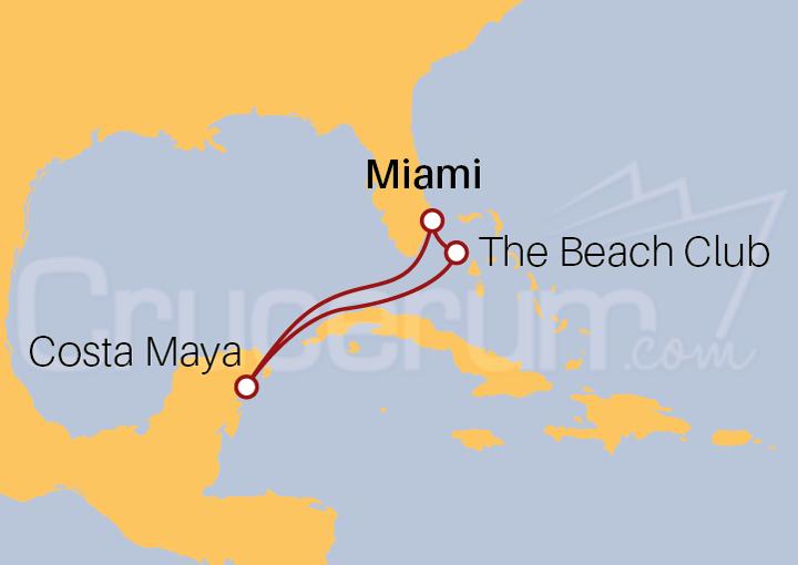 Itinerario Crucero Encanto de Costa Maya