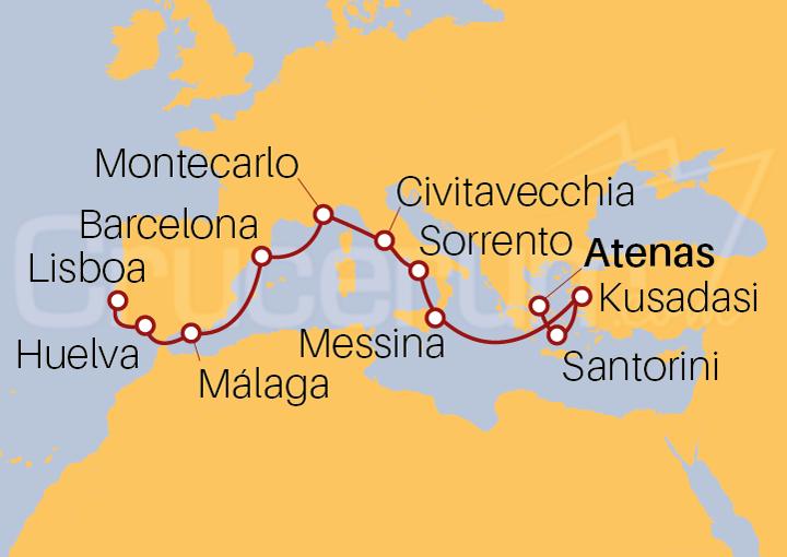 Itinerario Crucero Mares de Revelación