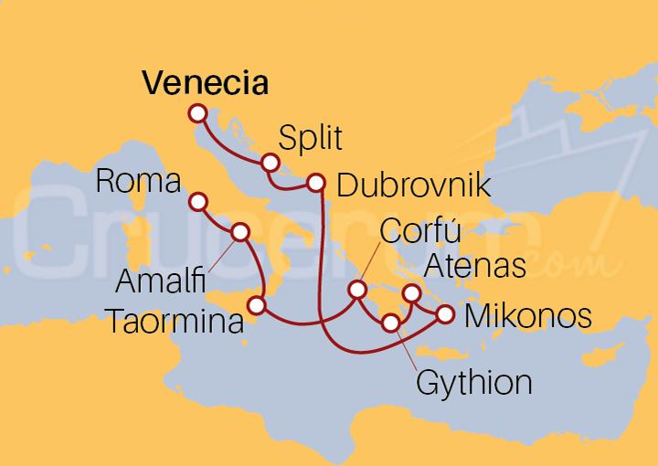 Itinerario Crucero Trilogía Europea