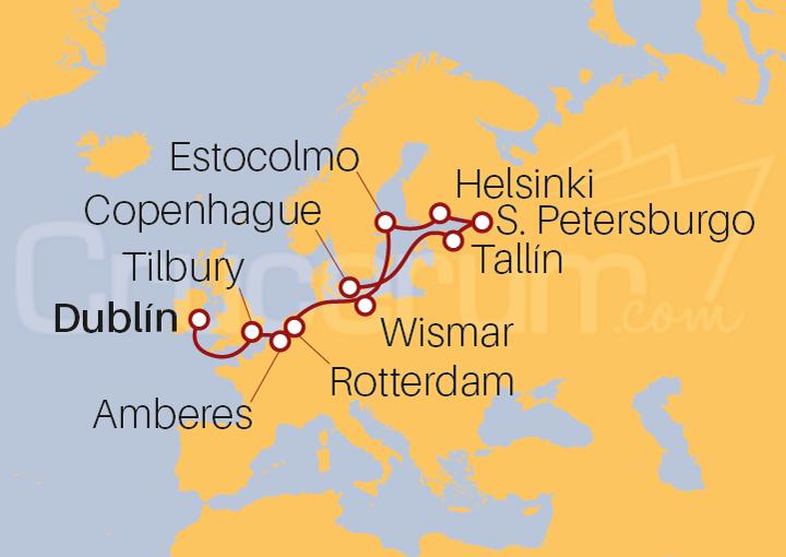 Itinerario Crucero Leyendas del Norte