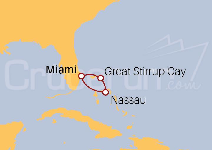 Itinerario Crucero Minicrucero por Bahamas