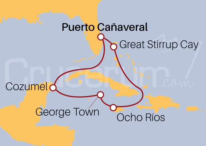 Itinerario Crucero México, Islas Caimán y Jamaica