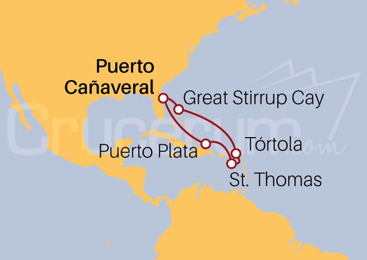 Itinerario Crucero República Dominicana e Islas Vírgenes