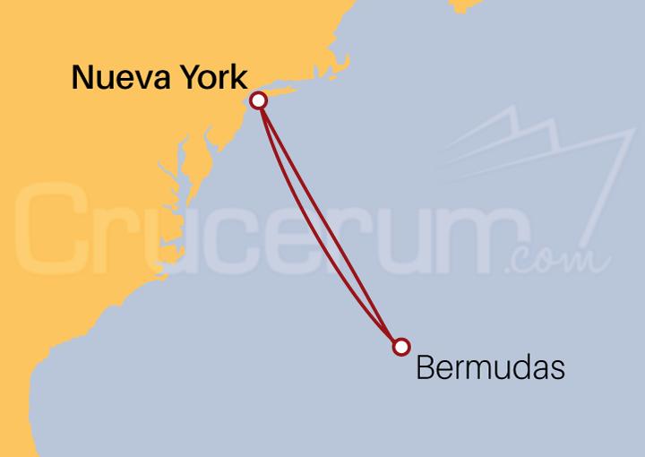 Itinerario Crucero Bermudas desde Nueva York