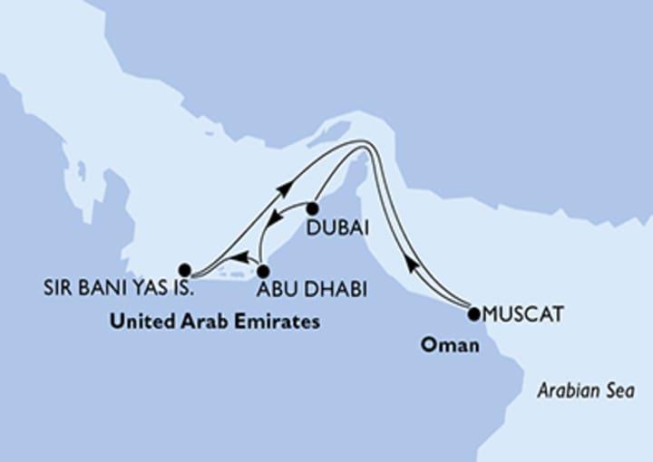 Itinerario Crucero Emiratos Árabes Unidos, Omán