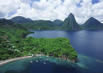 crucero por St. Lucia (Antillas)