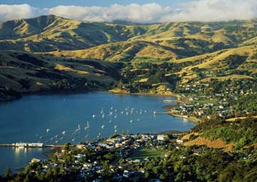 crucero por Akaroa (Nueva Zelanda)