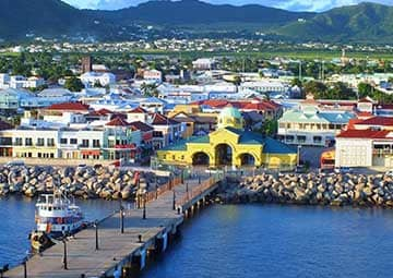 crucero por St. Kitts (Antillas)